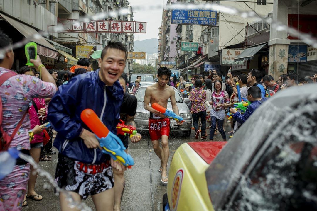 潑水節在每年4月舉行,相當於泰國的新年,是每年在港泰國人的最大節日。