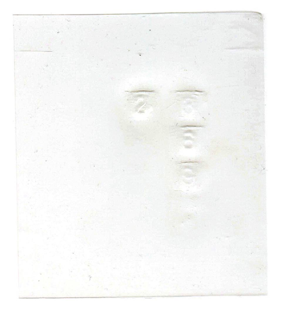《3692 》 為了減少沙士的傳播,管理公司在大廈的密碼鎖上加了一張膠片,並且定時清潔和更換。這是一張用舊了的膠片,上面壓印了居民出入的痕跡,3692是大廈的密碼(有趣的是密碼竟然印了在密碼鎖上!)(2003年5月11日,膠片/plastic sheet)