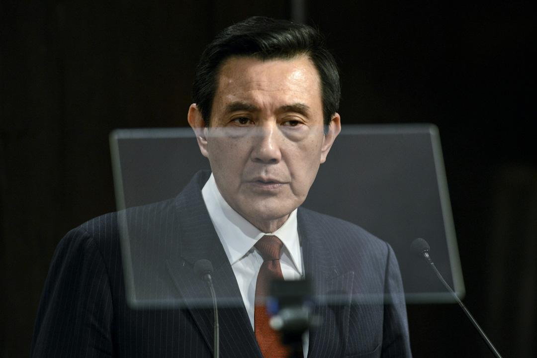 1995年,時任法務部長的馬英九全力推動國安法修法。國安法2-1條當時被媒體、立委稱為「間諜條款」;馬英九說明,這項條款非常敏感,應稱為「安全條款」。圖為2015年4月8日,時任總統馬英九在台灣外國記者俱樂部(TFCC)發表講話。