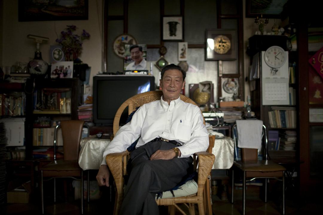 2009年5月11日,80歲的中國自由派經濟學家、天則經濟研究所創始人茅于軾在北京家中。 攝:Adam Dean/Getty Images
