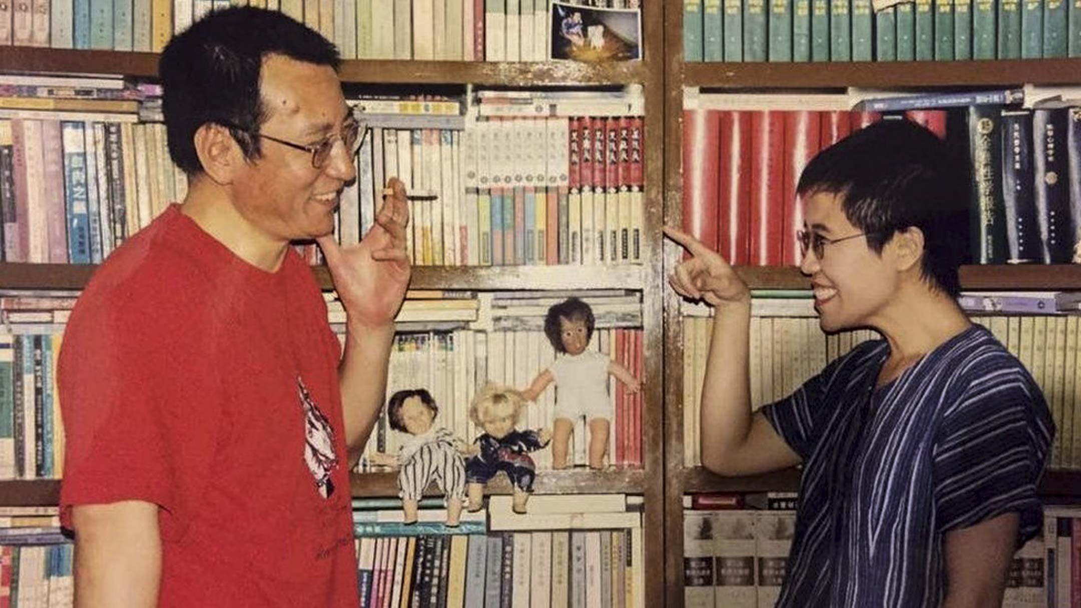 劉曉波與劉霞。 圖片來源:陳小平/Twitter