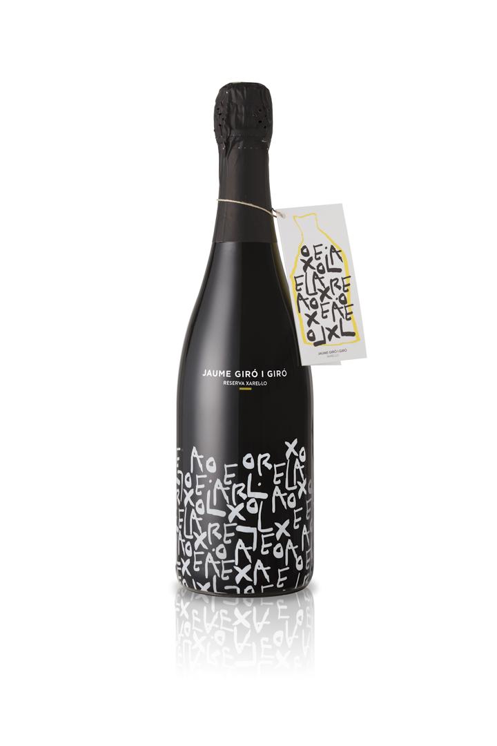 Gaby Castaño設計的字體用於一個紅酒品牌上。