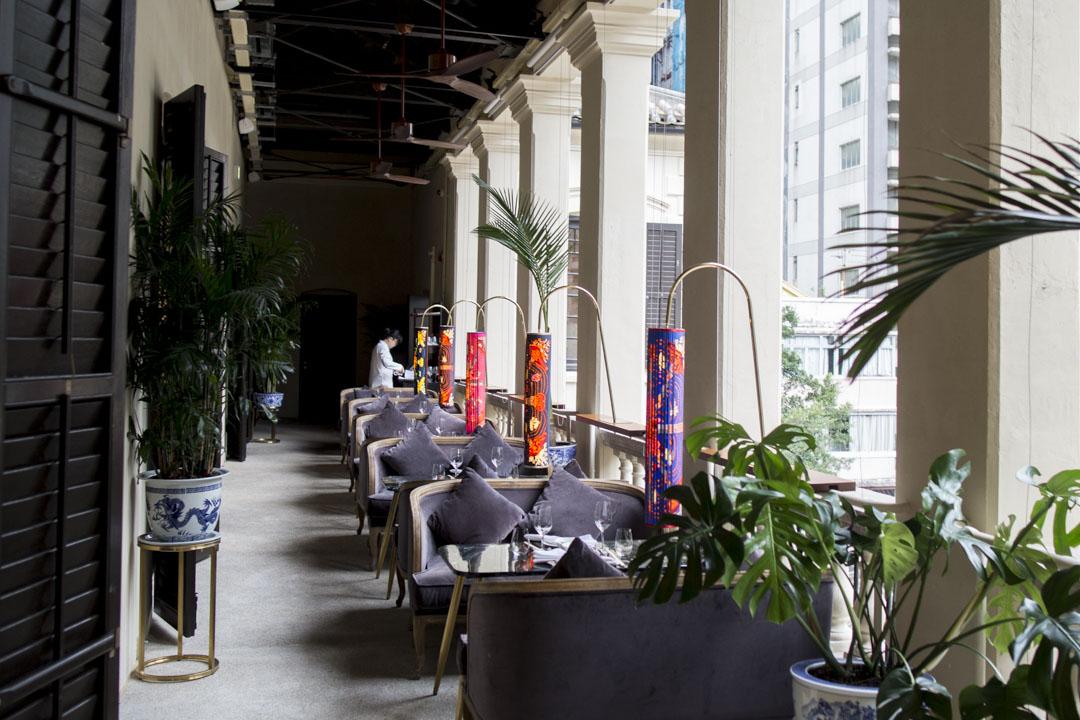 位於高層的高級餐廳Madam Fu。