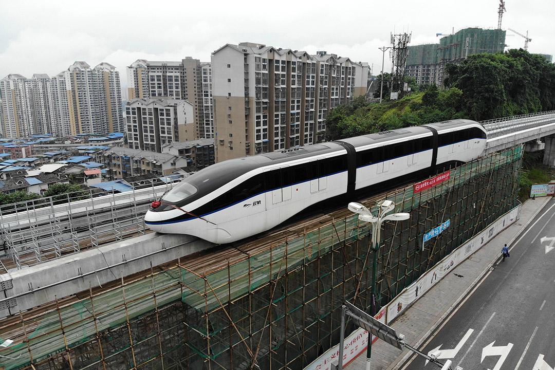 最近幾周,中國政府開始鼓勵商業銀行為一些地鐵和其他鐵路項目擴大放貸。 攝:Zhang Lang/Getty Images