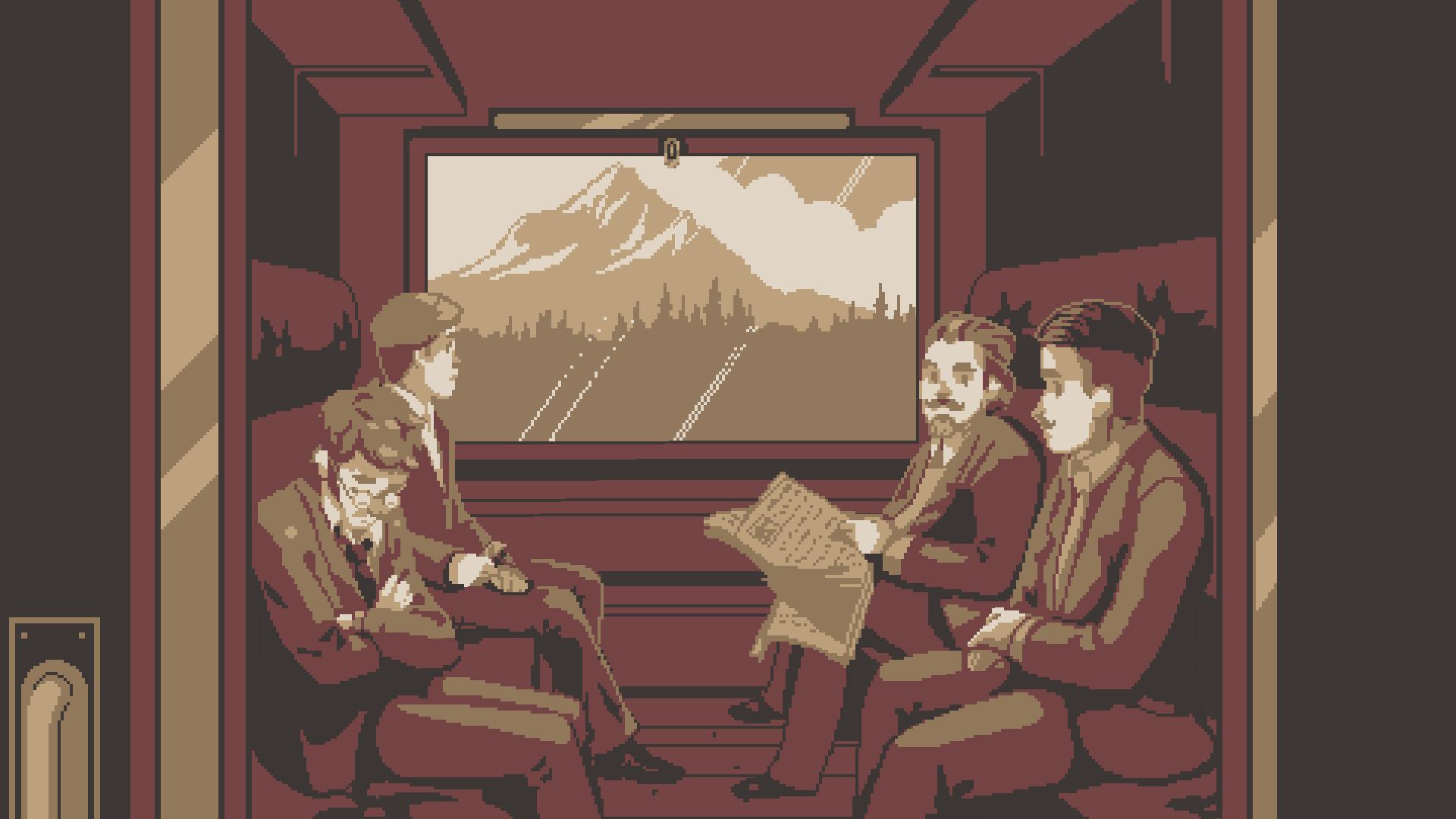 在第四章一場火車包廂中的閒聊中,前三章的人物和故事被巧妙的串聯了起來。