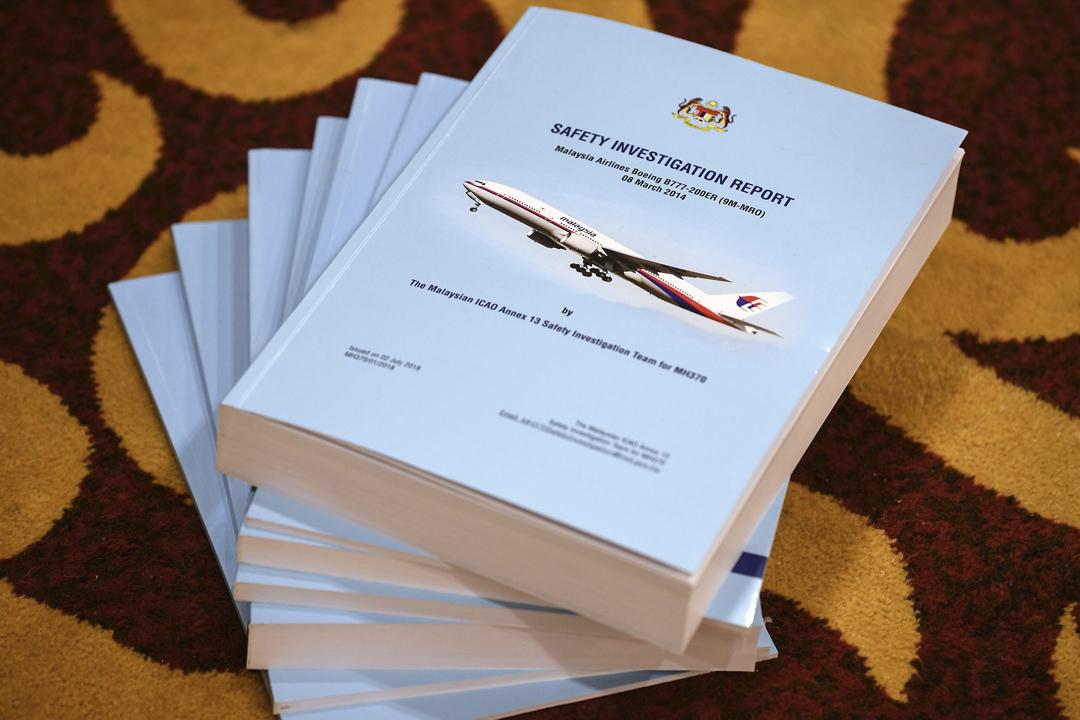 馬來西亞交通部調查小組今天下午舉行記者會,公布就2014年馬航 MH370 客機失蹤事故的調查報告,惟報告指無法確認造成事故的真正原因。 攝:Mohd Rasfan / AFP / Getty Images