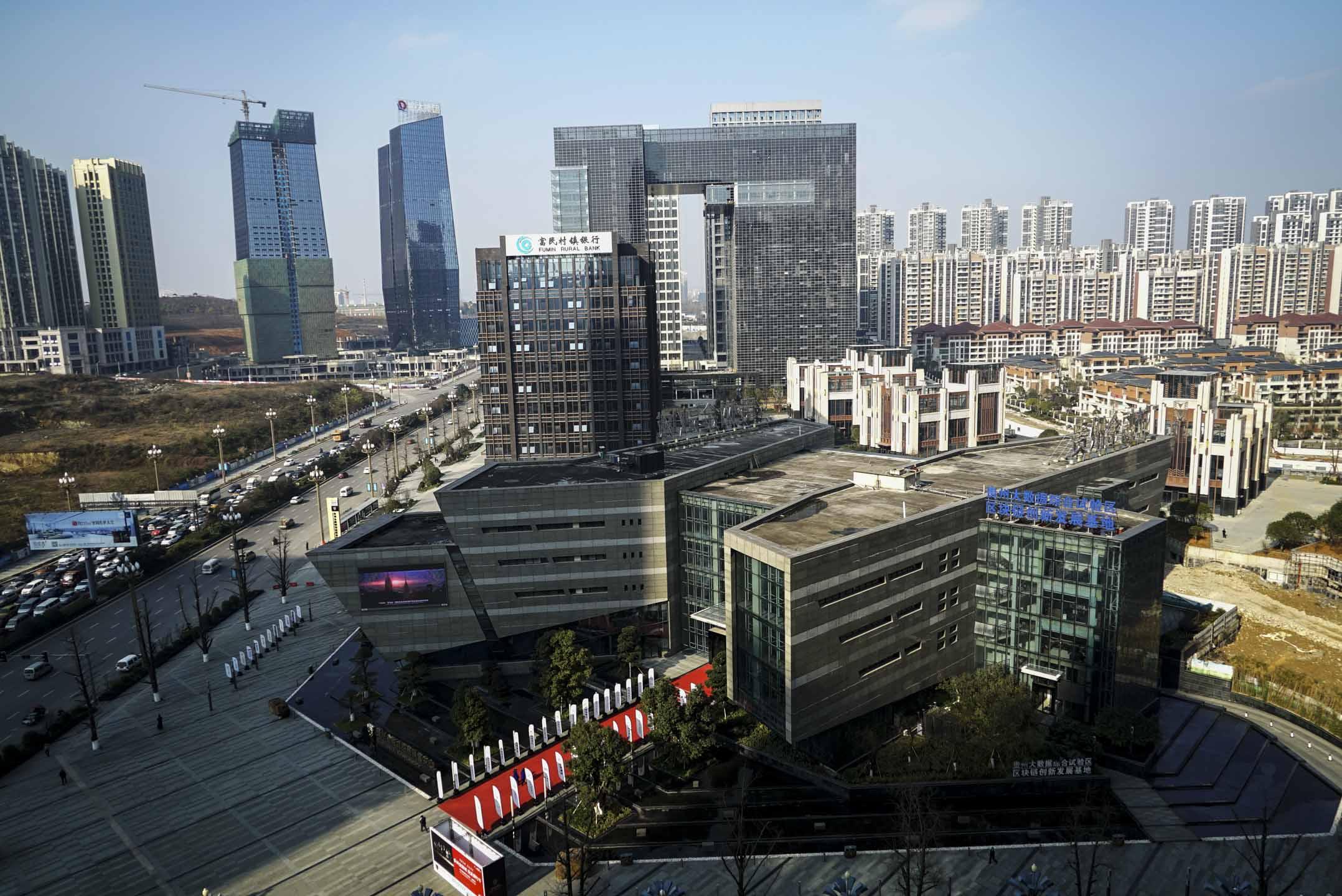 中國內陸省份貴州,近年開始探索以大數據產業作為突破口發展經濟。圖為貴州大數據綜合試驗區展示中心。 攝:彭麗勇/端傳媒