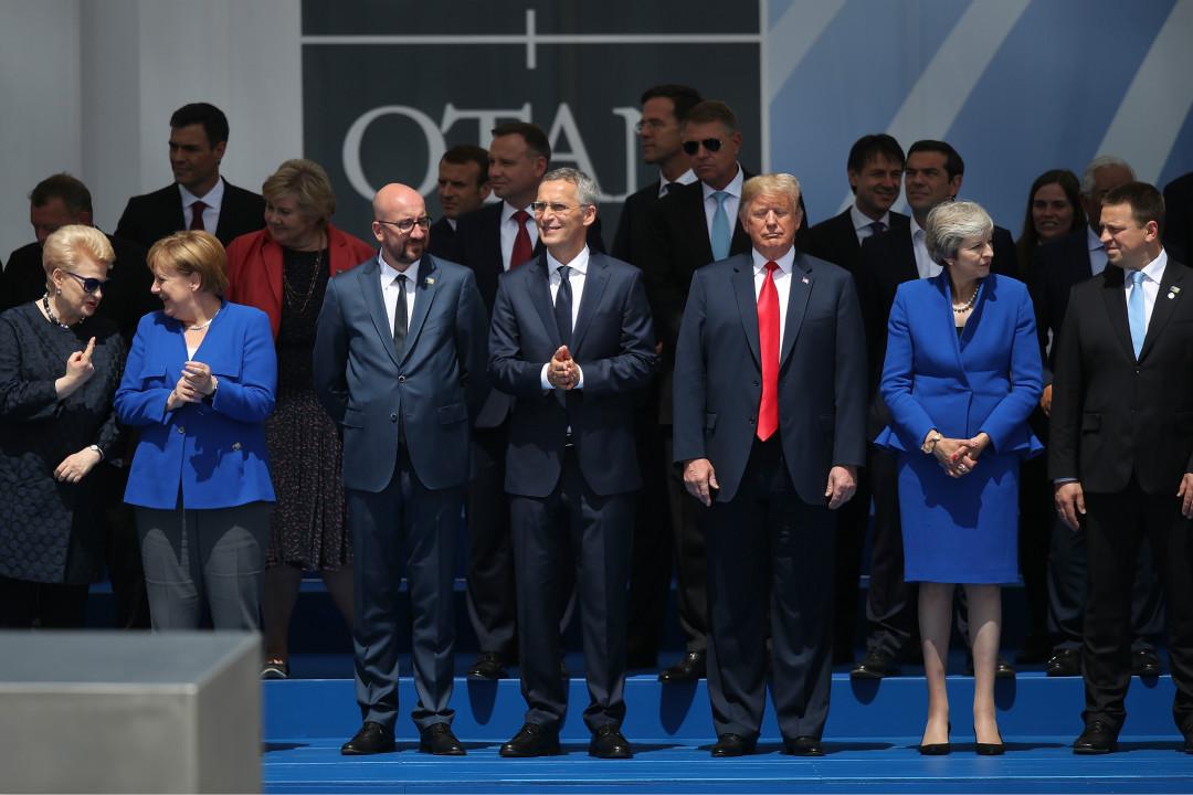 2018年7月11日,北約成員國在布魯塞爾舉行峰會。 攝:Sean Gallup/Getty Images