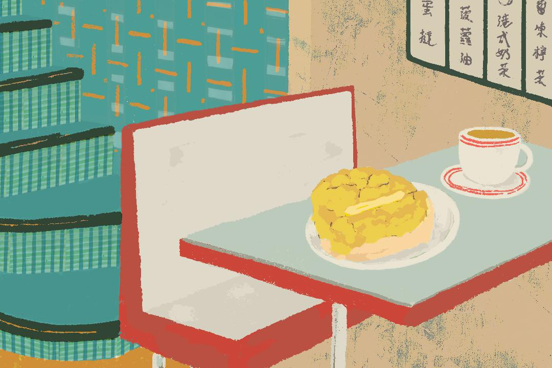 茶餐廳裏的香港故事。 插畫:許思慧