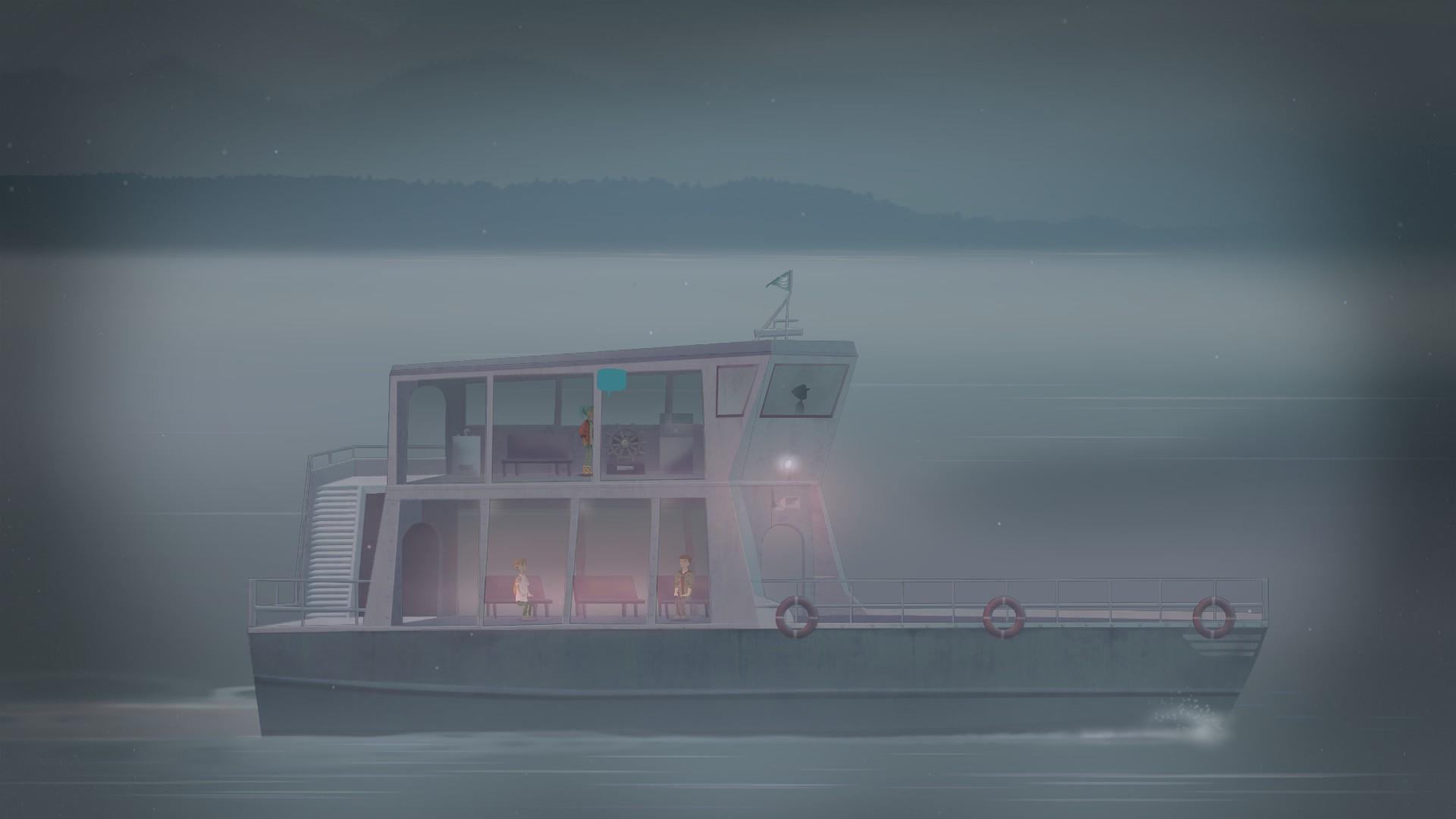 這就是 Oxenfree 最可憎的地方,船兒離島越來越遠,一切彷彿在一場惡戰之後復歸平靜。