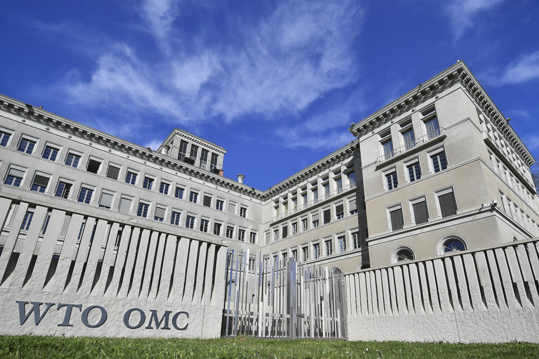 美國駐世貿大使 Dennis Shea 批評中國沒有落實自由貿易原則,並要求世貿審視中國的成員資格。圖為世界貿易組織(WTO)總部。 攝:Fabrice Coffrini / AFP / Getty Images