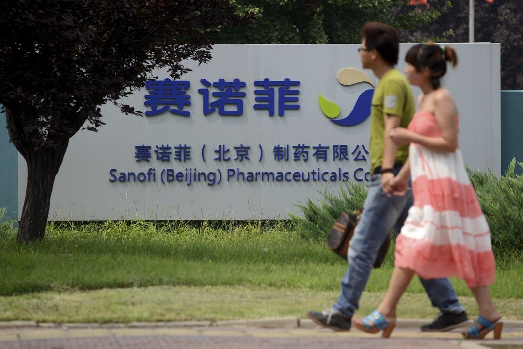 中國食品藥品檢定研究院(下稱「中檢院」)的《2017年生物製品批簽發年報》可以看到,在檢出的16批不合格疫苗中,14批是進口疫苗。圖為賽諾菲北京總部。