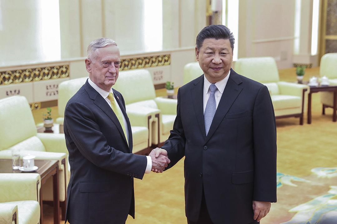 6月26日,美國國防部長馬蒂斯首次訪問中國,並會見中國國家主席習近平。
