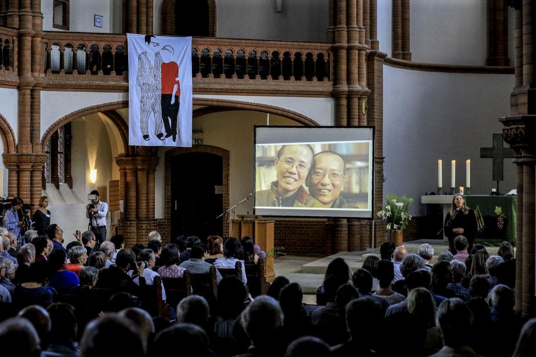 德國時間7月13日下午6時,在德國柏林客西馬尼教堂(Gethsemanekirche),舉行劉曉波逝世一週年追思會。