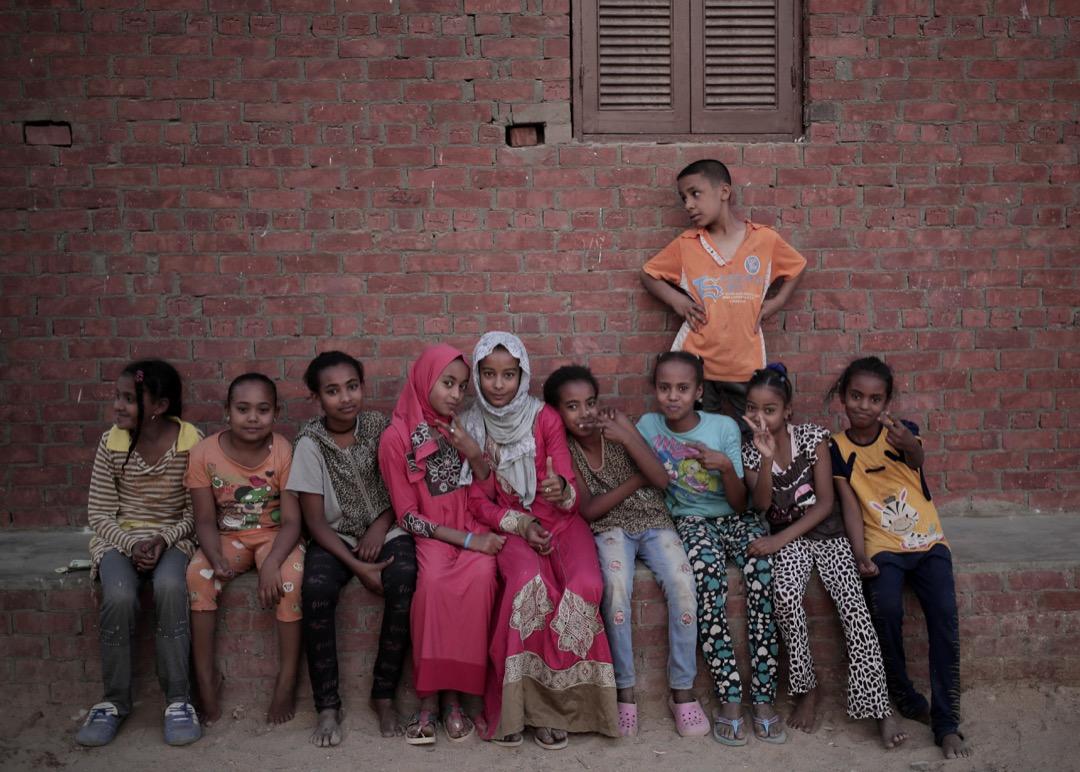 Eneiba村內的努比亞小孩們。