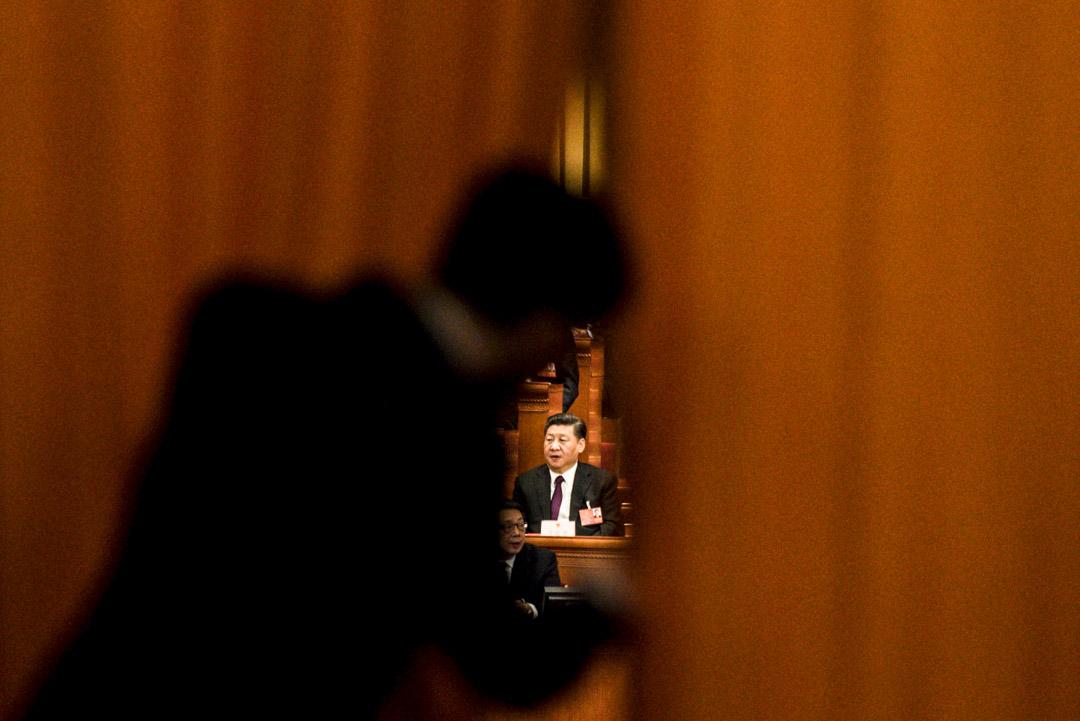2018年3月17日,國家主席習近平在第十三屆全國人民代表大會上。