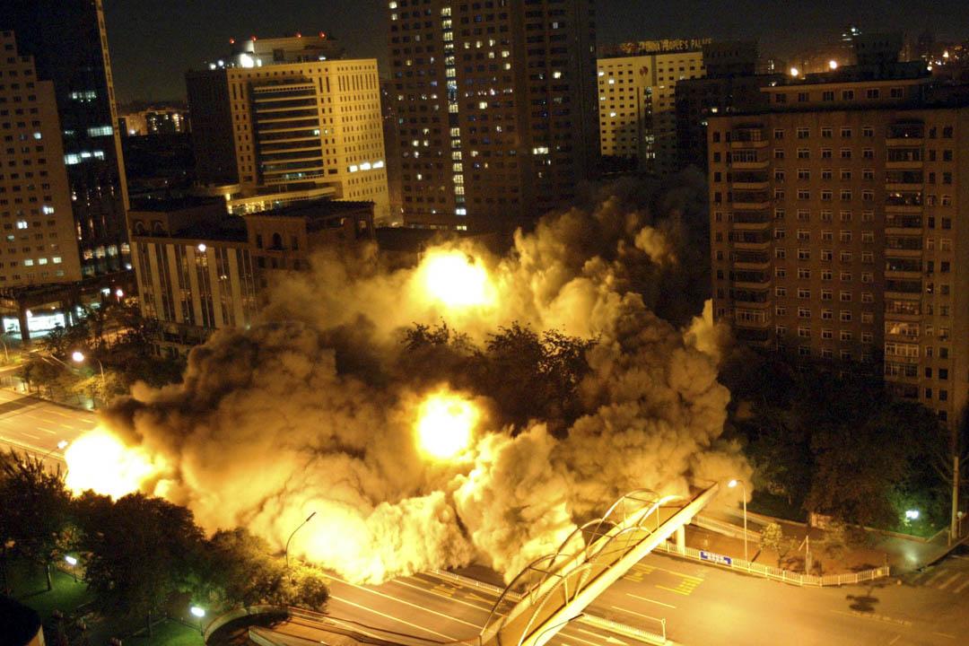 中華全國總工會(全總),是中國唯一的合法工會組織。圖為2003年位於西長安街的中華全國總工會舊辦公大樓成功爆破拆除。
