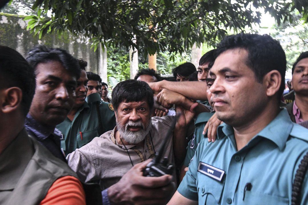 2018年8月6日,孟加拉警方逮捕了該國著名的攝影師Shahidul Alam。