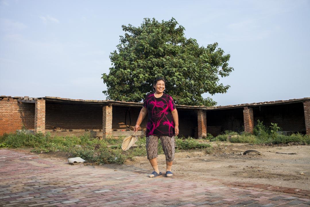 貴岩今年60歲,河北省石家莊市九門村人,曾同時養過20多頭牛。2014年,村裏禁止自家養奶牛後,她就再也沒幹別的營生。