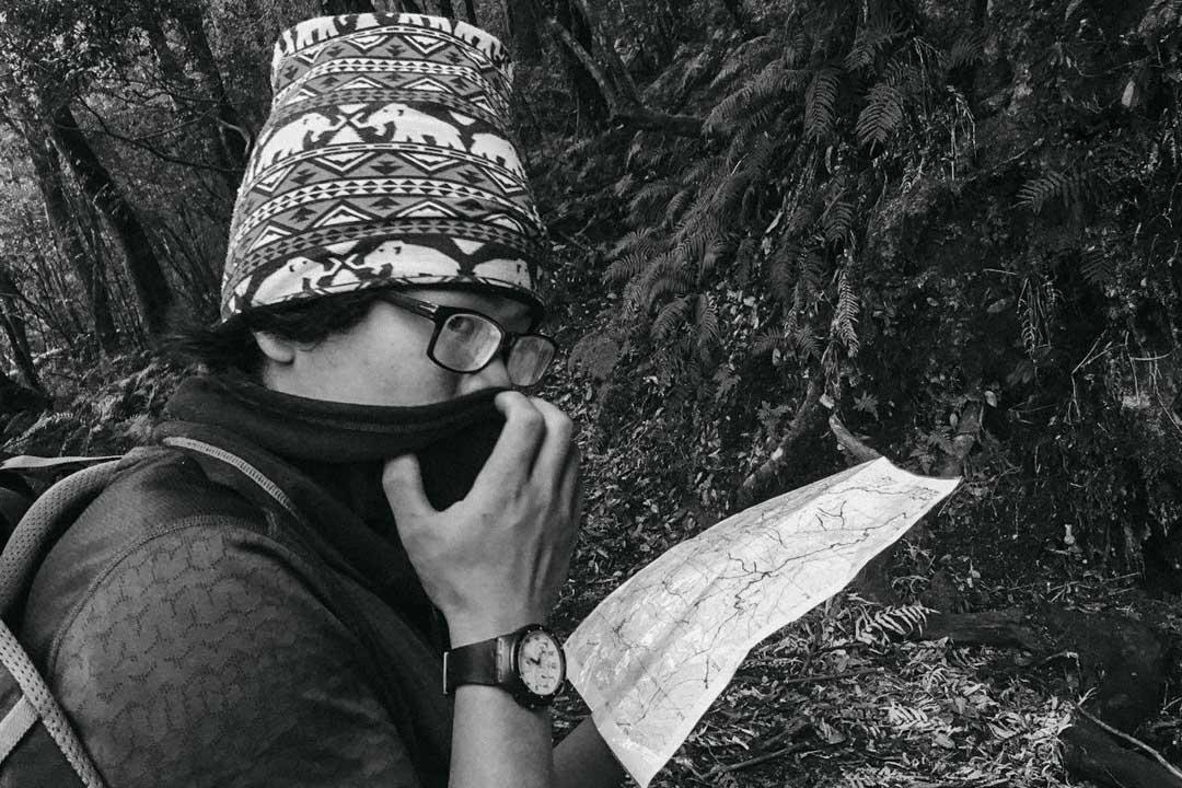 梁聖岳的地圖都會用透明膠帶嚴實地做好防水。