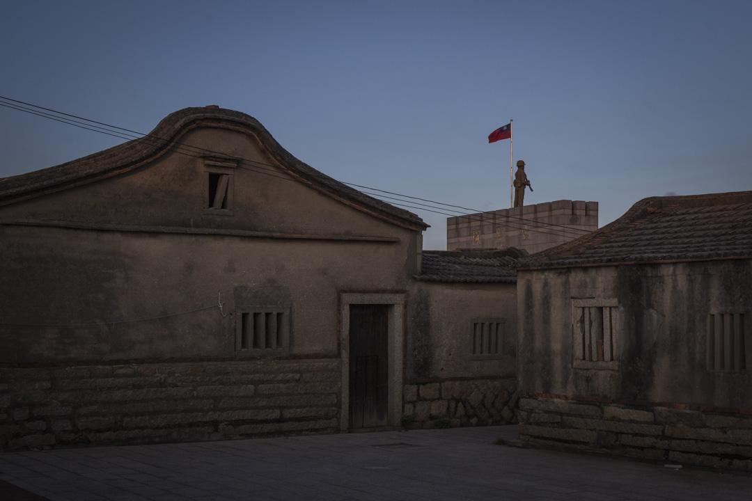 2018年8月21日,古寧頭戰役紀念碑旁的村落。