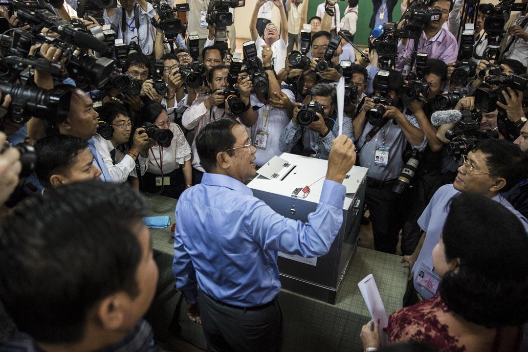 2018年7月29日,柬埔寨舉行了一場沒有反對黨的國會暨總統大選,執政人民黨贏得國會所有125個議席。執敢33年的總理洪森連任。