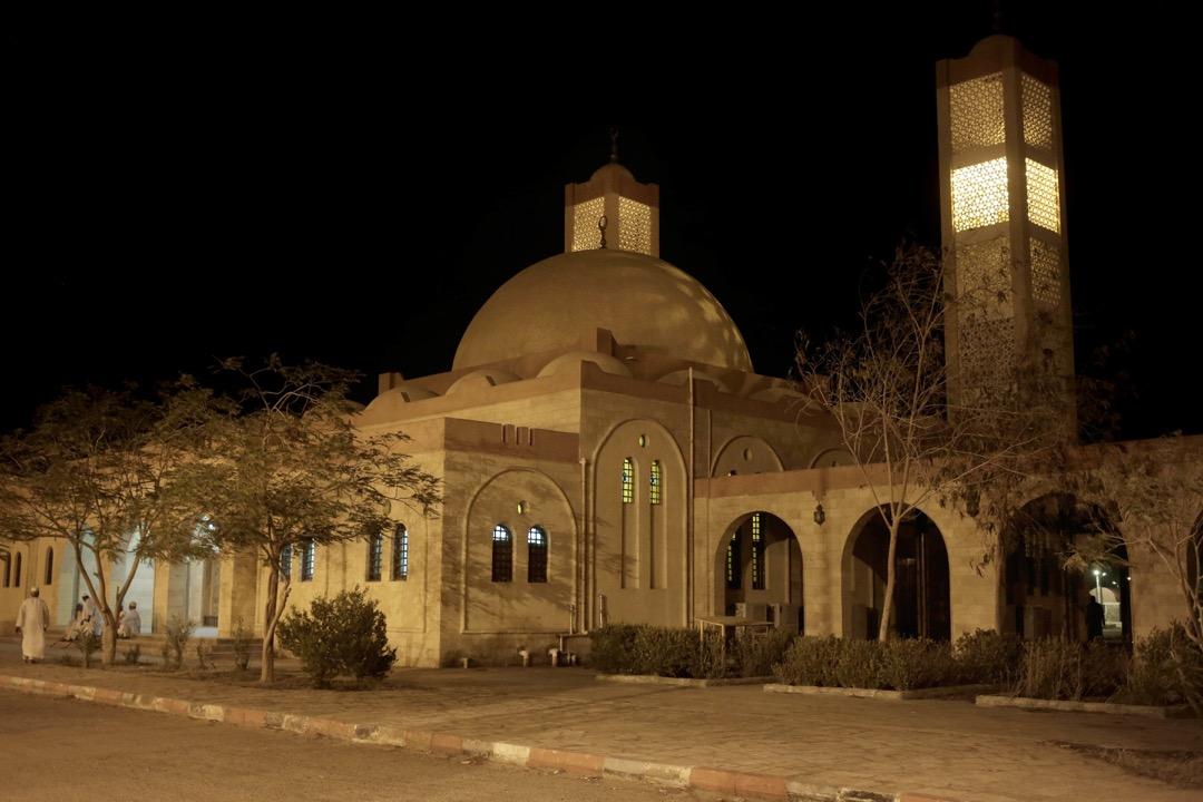 埃及政府為努比亞人新建成的房屋項目Wadi Karkar裏的一坐清真寺。