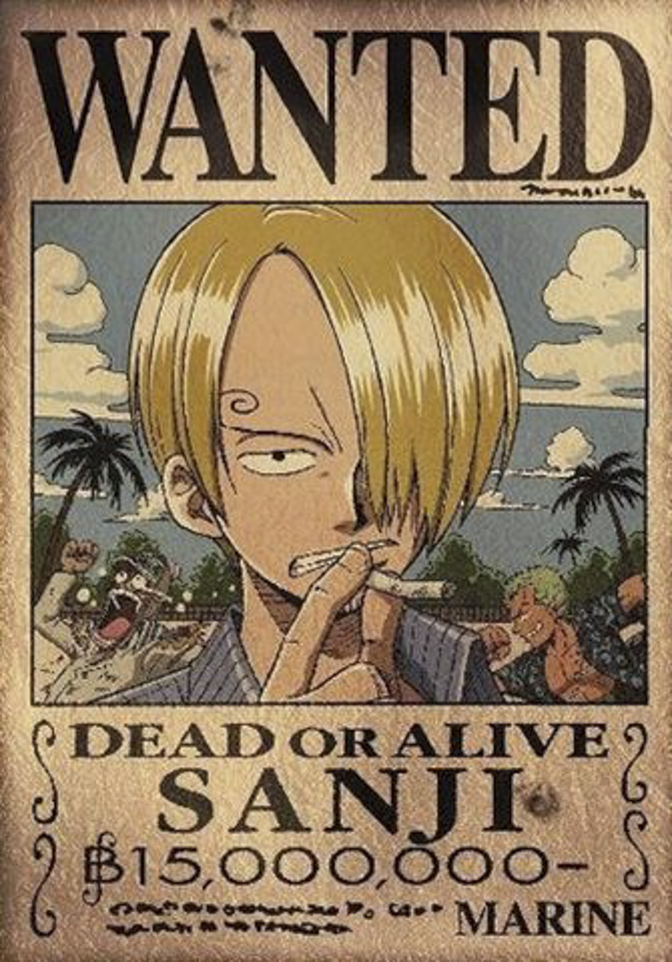 《One Piece 航海王》中19歲的香吉士經常抽菸。