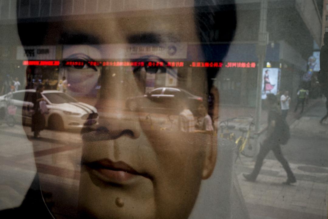 2018年9月,毛澤東肖像在深圳一間畫廊展出。