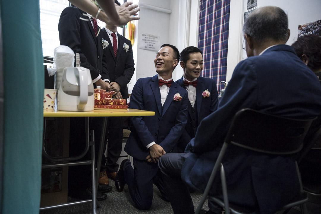 2018年5月5日,C.P. So和Alvin Chan在香港一間教堂舉行的同性婚禮。