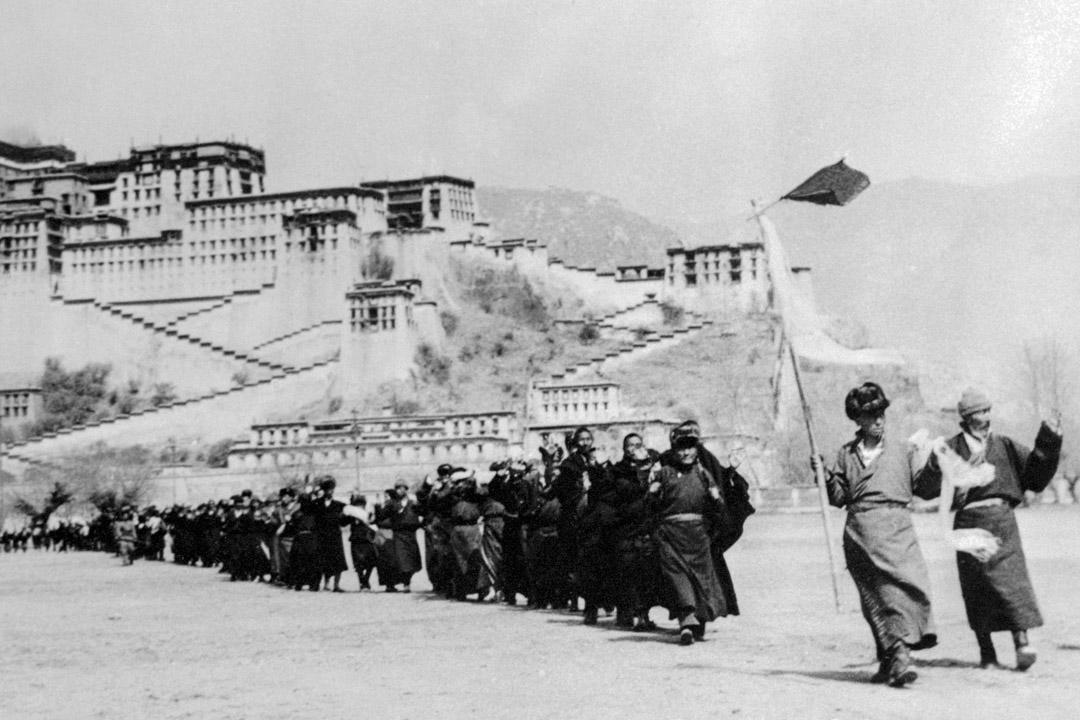 1959年的西藏拉薩布達拉宮。