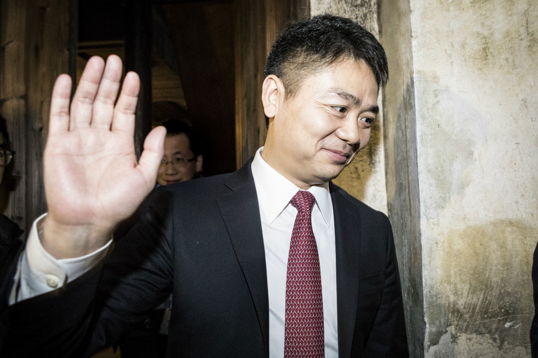 2017年,浙江烏鎮,京東董事長劉強東參加世界互聯網大會。 攝:Imagine China