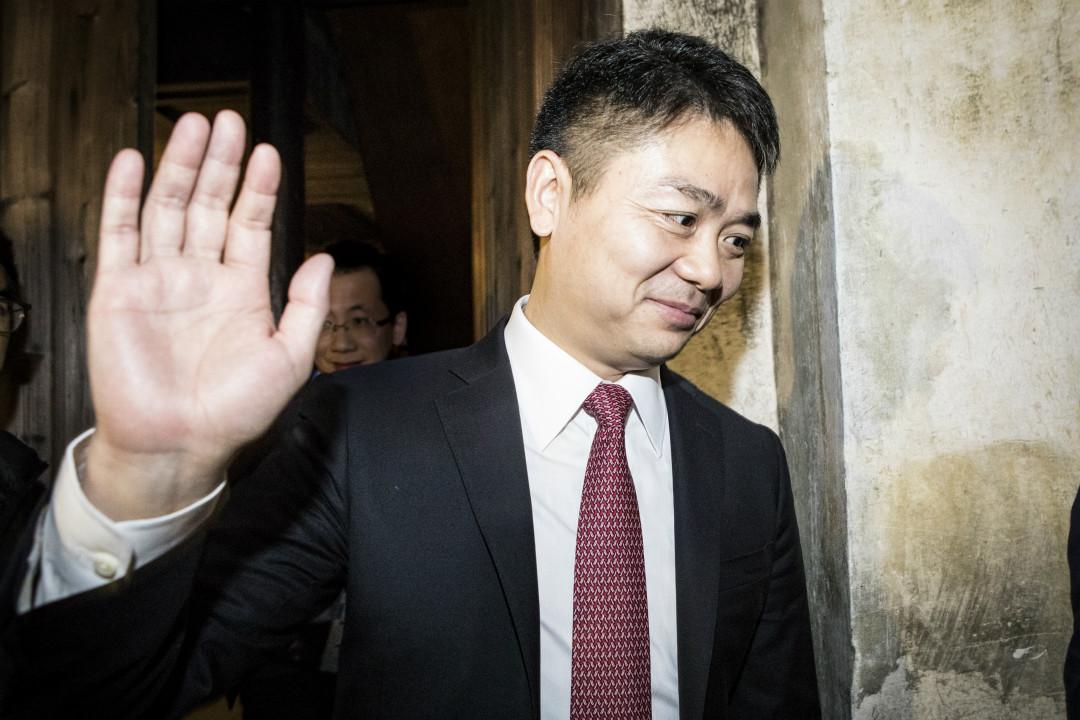 2017年,浙江烏鎮,京東董事長劉強東參加世界互聯網大會。