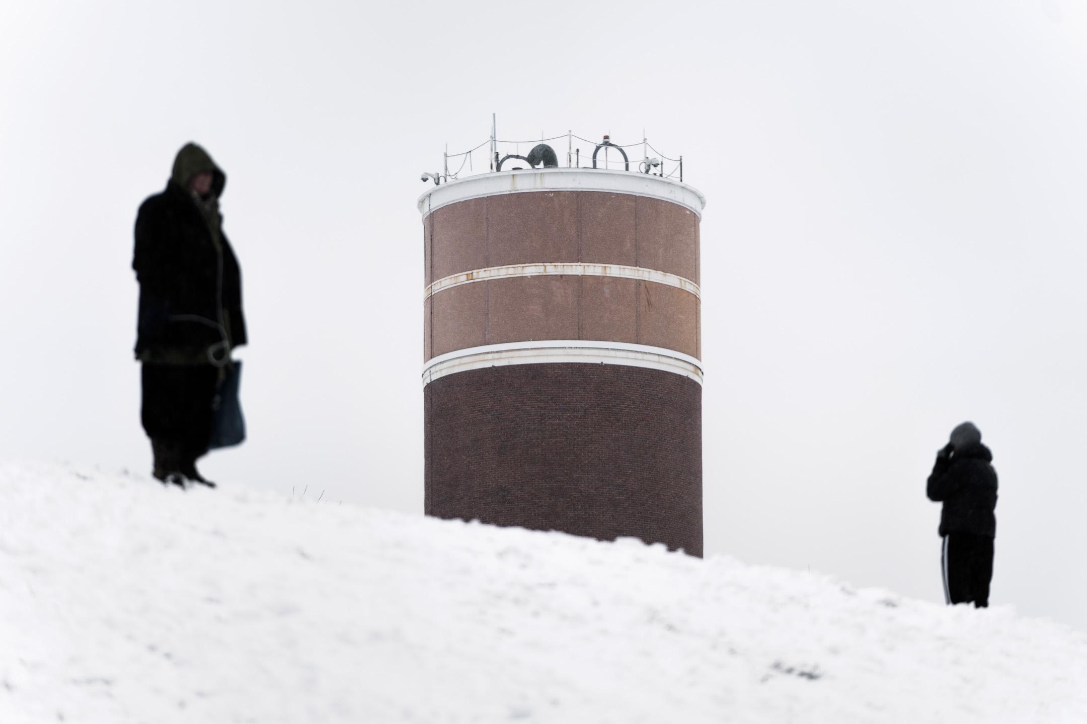 2018年3月21日,美國華盛頓,代號「車輪」(Cartwheel)的堡壘附近安裝的核能通信塔。