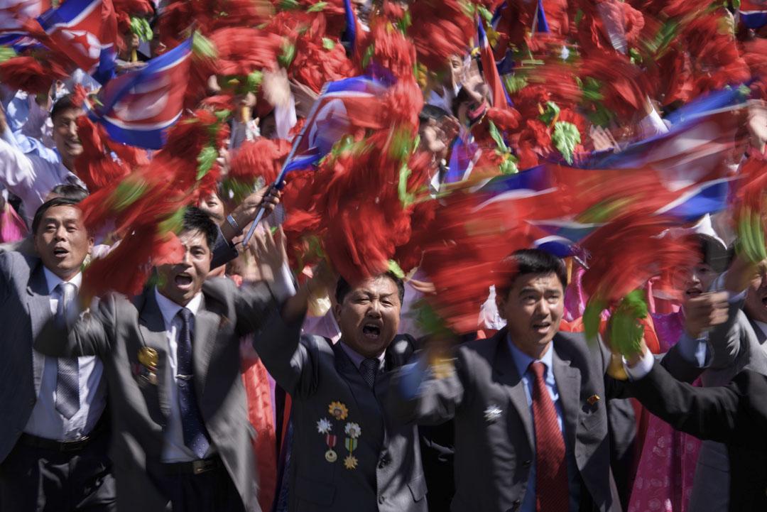 2018年9月9日,北韓慶祝建國70周年閱兵大典。