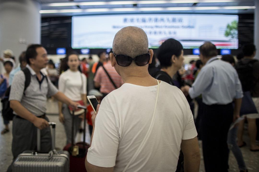 香港西九龍高鐵站購票大堂。