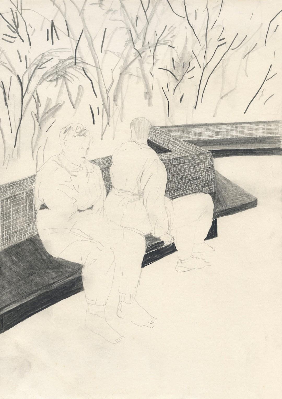 黎清妍,《漫游》,石墨紙本,2010