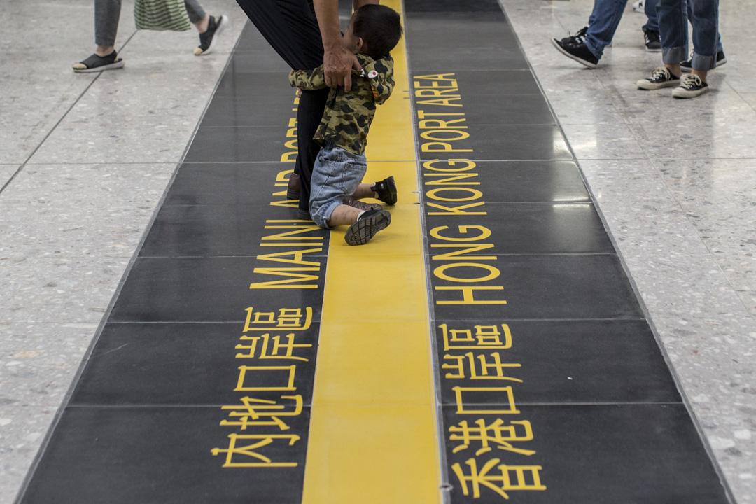 香港和內地口岸區的接壤邊界。 攝:林振東/端傳媒