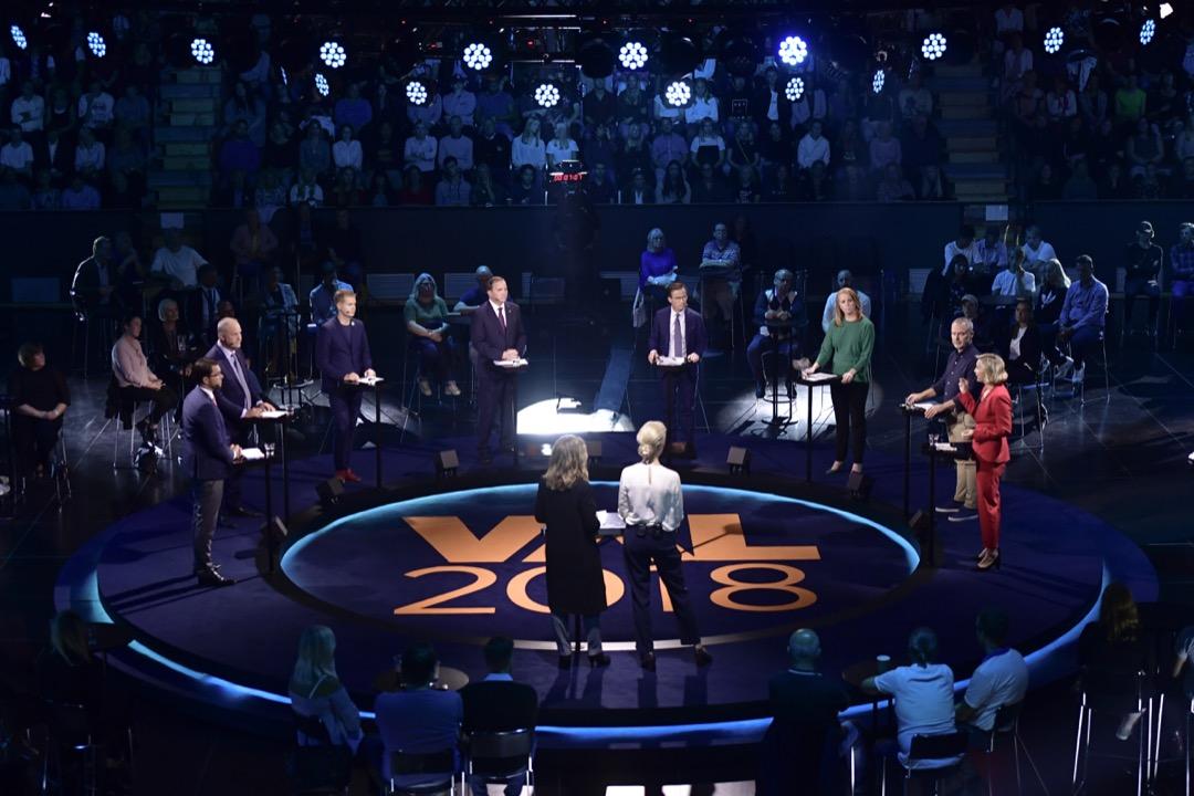 2018年9月6日,各政黨黨魁出席選舉前夕的電視辯論。