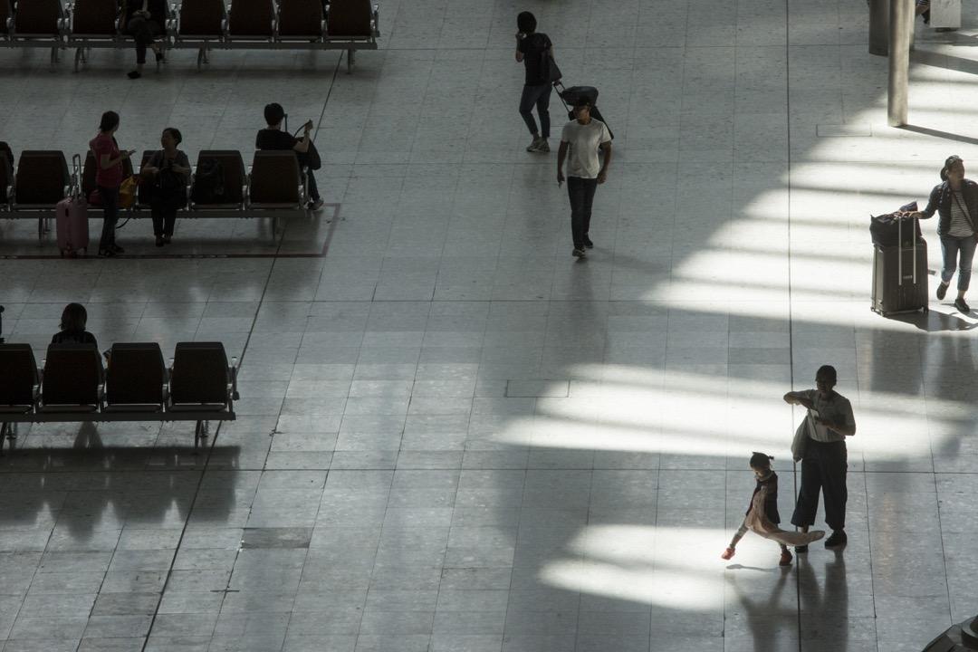 香港西九龍高鐵站,內地口岸區候車大堂。