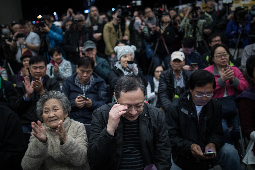2018年4月7日,民主派議員發起集會,聲援早前在台灣提及港獨言論的戴耀廷。