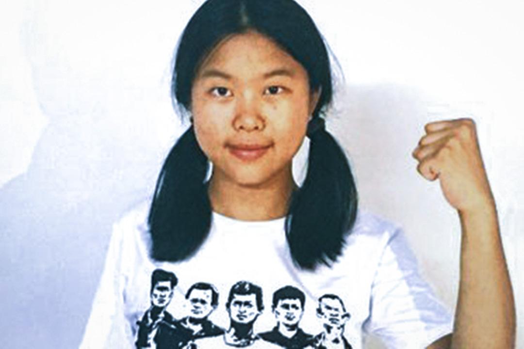 聲援團在廣東惠州惠陽的出租屋被眾多手持盾牌全副武裝的警察衝入,在場10名工人和50名學生悉數被捕,包括北京大學畢業生岳昕,北京大學反貧困協會前會長馮歌等人。圖為岳昕。