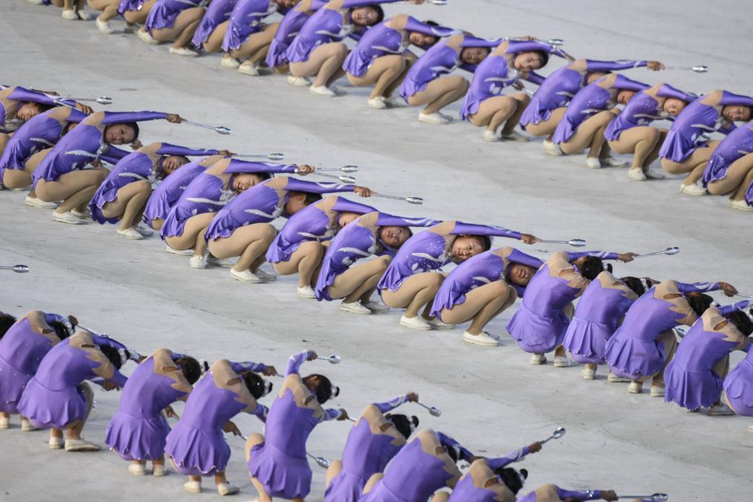 2018年9月9日,北韓慶祝建國70周年大型文藝表演晚會,「阿里郎」藝術表演。