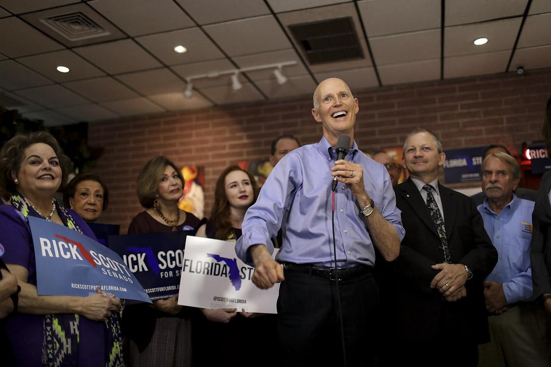 共和黨籍州長裏奇·斯科特(Rick Scott)決定參選佛羅里達州(Florida)參議員選舉,今年佛州的參議員選舉馬上一躍成為此次中期選舉的焦點。