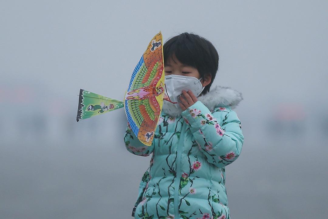 世衛報告指逾九成兒童呼吸有毒空氣。 攝:Li Feng/Getty Images