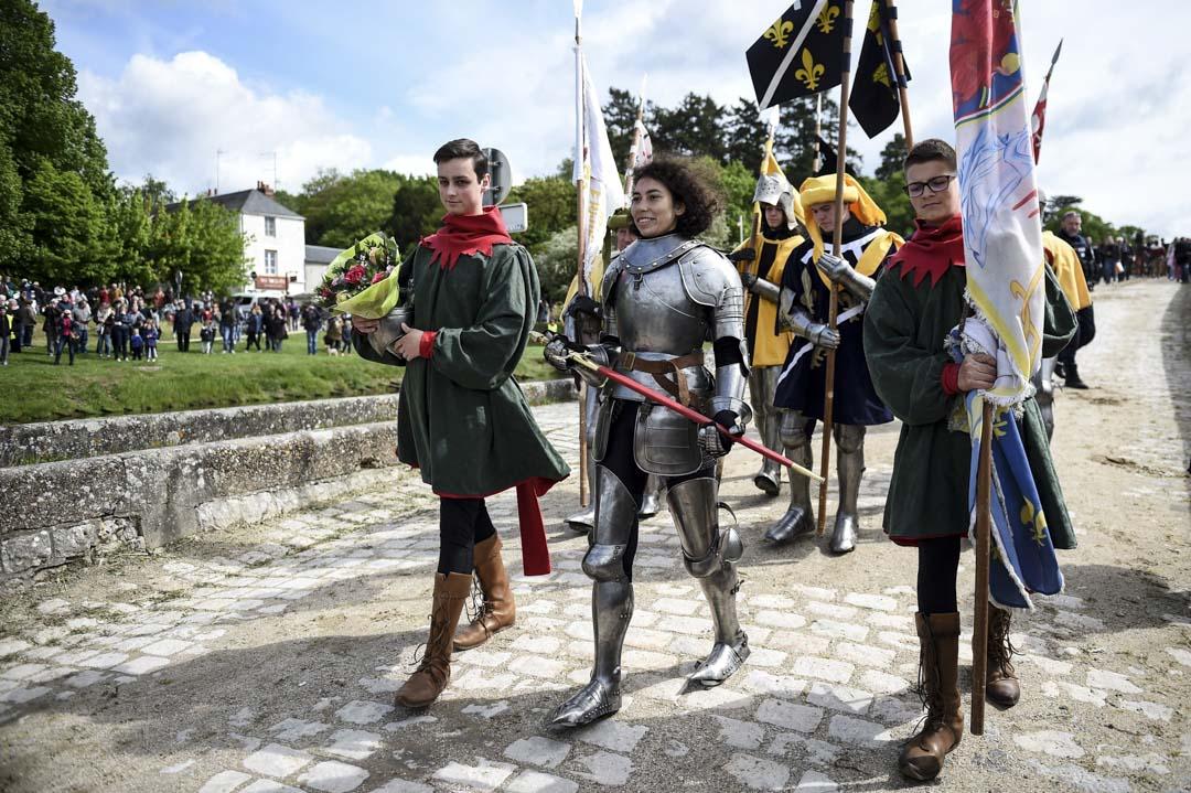 2018年5月1日,奧爾良舉辦的聖女貞德節。在法國,聖女貞德承載了很多家國層面的象徵意義,被認為是天主教傳統和共和國理念的化身。