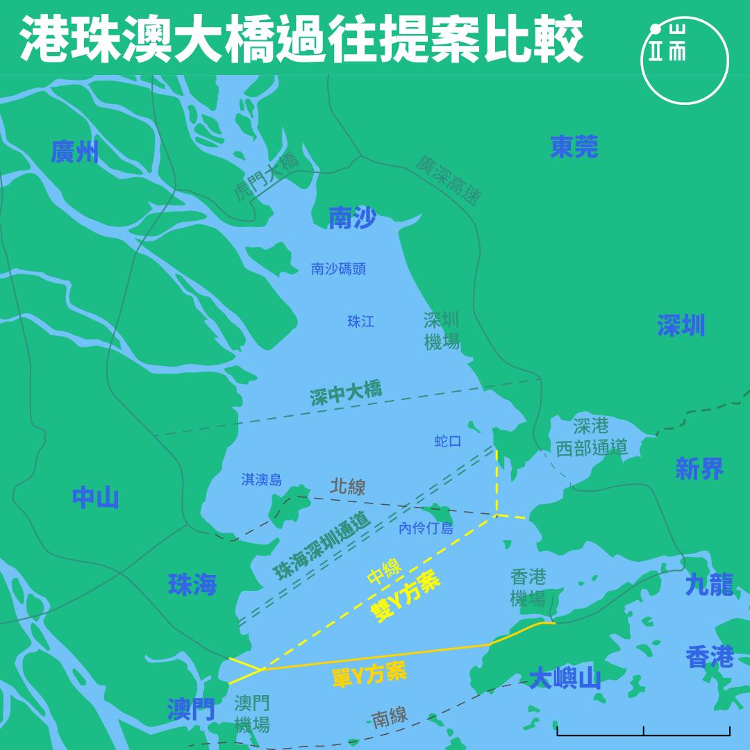資料來源:Yang C (2006) The geopolitics of cross-boundary governance in the Greater Pearl River Delta, China: A case study of the proposed Hong Kong–Zhuhai–Macao Bridge, Political Geography
