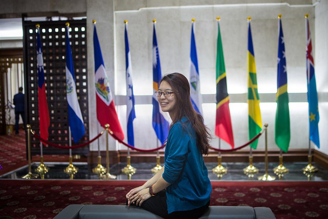 黃子綪進入外交部服務已滿一年。 攝:陳焯煇/端傳媒