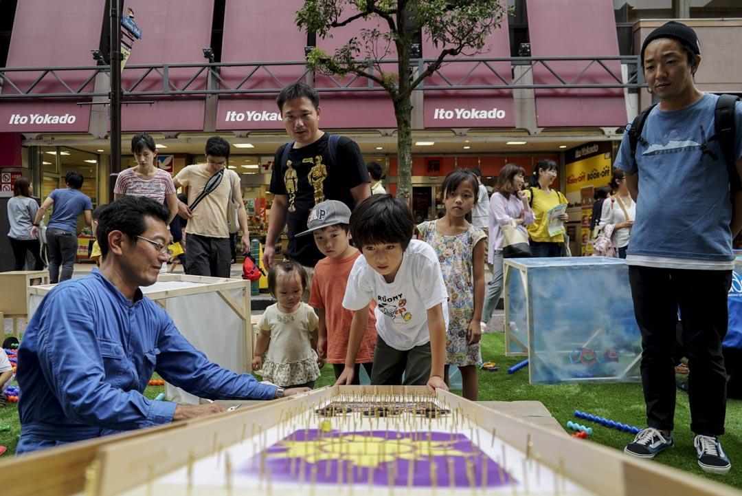 東京千葉縣柏市的街頭遊戲。