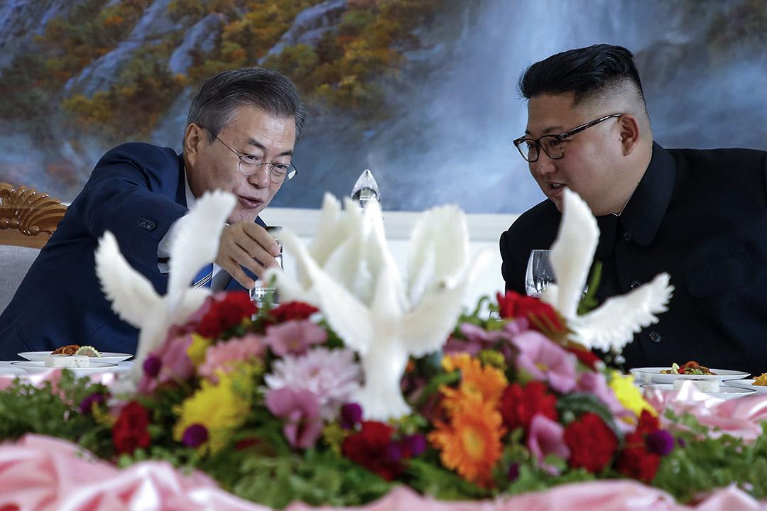 9月18到20日,接連3天,文在寅展開任內首次訪問平壤的行程。 攝:Pyeongyang Press Corps/Pool via Getty Images